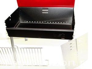Гриль - чемодан BST 422 с открытой крышкой
