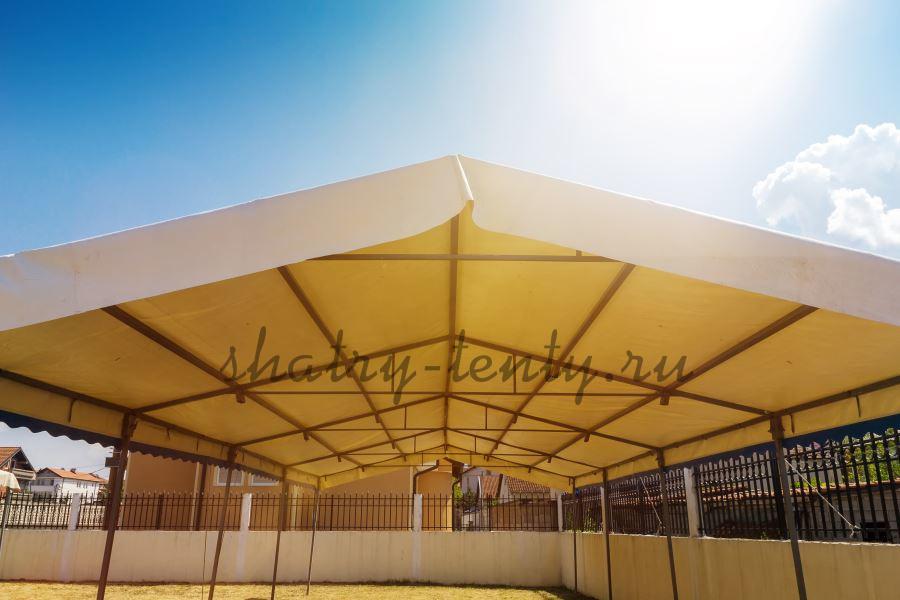 Сборно-разборный шатер с металлическим каркасом в собранном виде