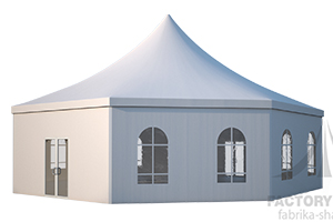 Легко устанавливаемый шестигранный шатер Стандарт из ПВХ производство ФАБРИКА ШАТРОВ, Россия