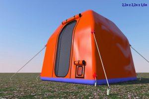 Зимний надувной шатер ПНЕВМОСИБИРЬ 2 Х 2 М, Россия