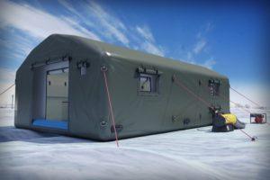 Надувная палатка шатер ПНЕВМОСИБИРЬ, Россия - вид снаружи