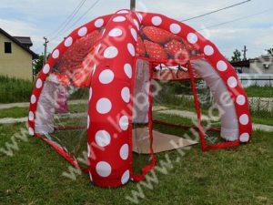 Надувная сферическая палатка-шатер KUBAERO на дачном участке