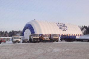 Надувной спортивный зал АНГАРСТРОЙ, Россия - вид снаружи