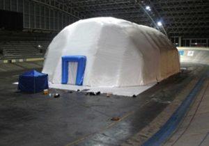 Зимний шатер ВОЗДУХ-ГРУПП, Россия - вид снаружи
