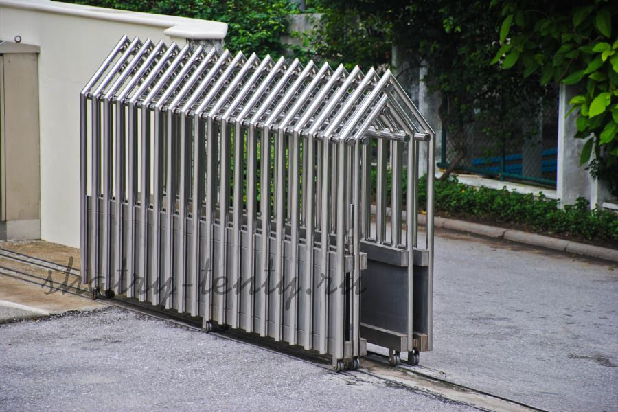 Ограждения для паркинга из нержавеющей трубы на колесиках