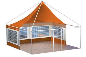 Сборно-разборный мобильный шатер «Альфа» TENT AIR 5 X 5 М, в разрезе
