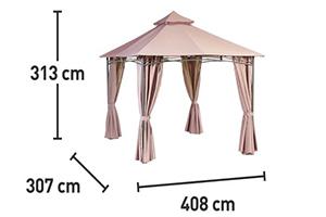 Павильон садовый Amo ra производитель: OBI Германия схема размеров