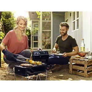 Приготовление овощей на газовом гриле Weber Go Anywhere Gas в домашних условиях