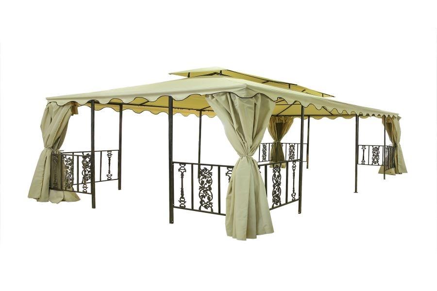 Садовая шатер - беседка с элементами ковки