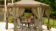 Садовый шестигранный шатер-тент