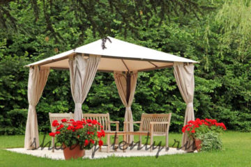 Садовые шатры шестигранные
