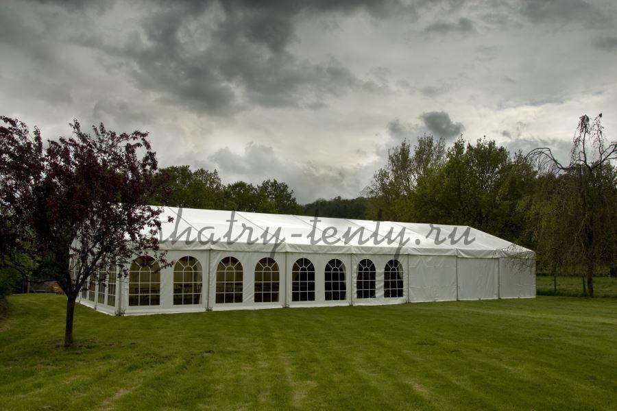 Большой сборно-разборный шатер с прозрачными окнами