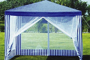 Бело-синий шатер Green Glade 1086 с москитной сеткой
