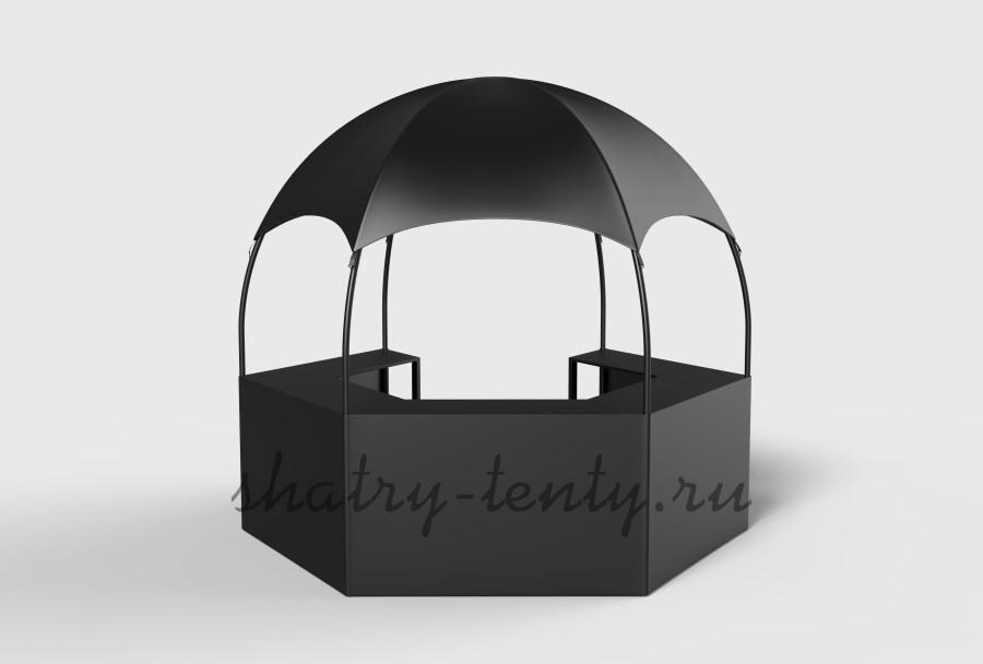 Шестигранник самая популярная и сбалансированная форма многогранных тентовых шатров