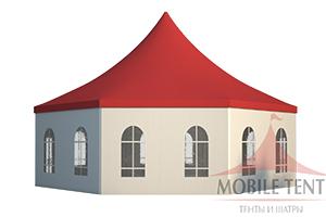 Шестигранный шатёр MOBILE TENT Стандарт 15 Х 15 М, производство Россия