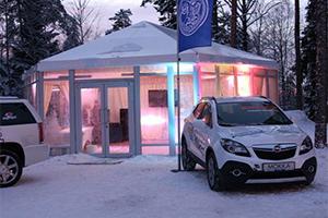 Шестигранный стеклянный павильон LIVE GROUP 9 Х 9 М для банкетов, производство Россия, Санкт-Петербург