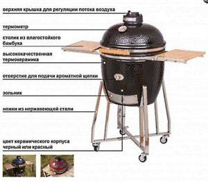 Угольный гриль на колесах Monolith Le Chef XL Производитель: Monolith, Германия