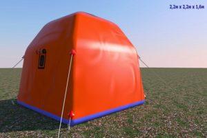 Утепленный надувной шатер-палатка ПНЕВМОСИБИРЬ 2 Х 2 М