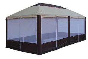 Ветроустойчивый разборный шатер для дачи Пикник Элит МИТЕК с москитной сеткой, производство Россия