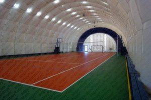 Волейбольная площадка в надувном ангаре компании АНГАРСТРОЙ