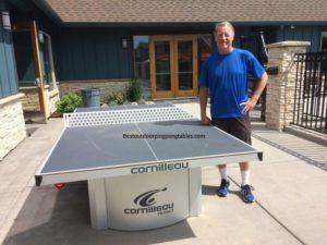 Всепогодный теннисный стол Сornilleau PRO 510 OUTDOOR на домашнем дворе