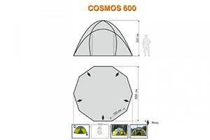 Шатер World of Maverick COSMOS 600 схема размеров