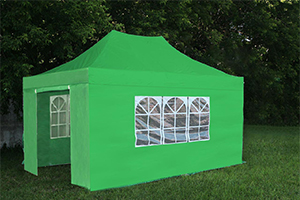Закрытый садовый тент шатер 3х4,5 Clasic Gazeboс прозрачными окнами