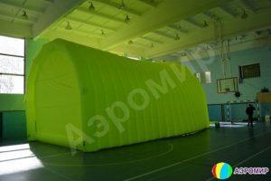Зеленый надувной ангар АЭРОМИР ВС-2