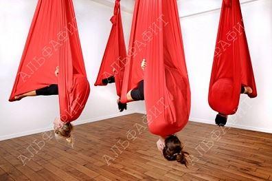 Антигравити подвесной красный гамак для йоги, США