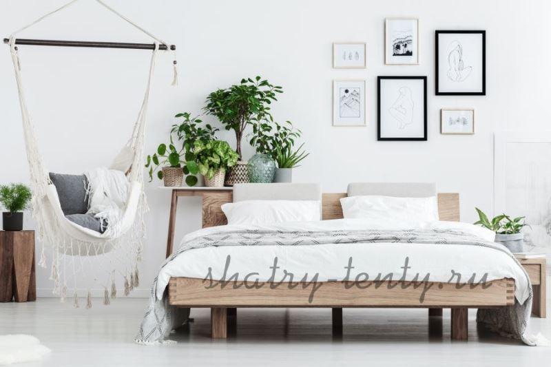 Белый дизайнерский мини гамак кресло для комнат и помещений