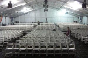 Белый большой шатер павильон EDISONGROUP 30 для мероприятий