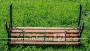 Перевёрнутая чугунная скамейка Жардин VG-Group, Россия
