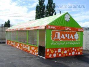 Дачный павильон с двухскатной крышей МОСТЕНТ Галерея 10 Х 10 М, Россия