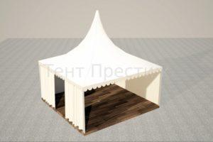 Белый дачный шатер павильон ТЕНТ ПРЕСТИЖ Пагода 3 Х 3 М