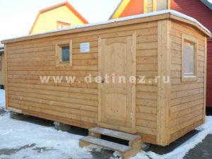«Детинец» мобильная баня из клееного бруса, Производитель: Группа строительных компаний Детинец, Россия