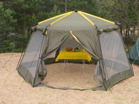 Большой шатер для отдыха с москитной сеткой Avi-Outdoor Ahtari Moskito Sharer на открытом воздухе, Финляндия