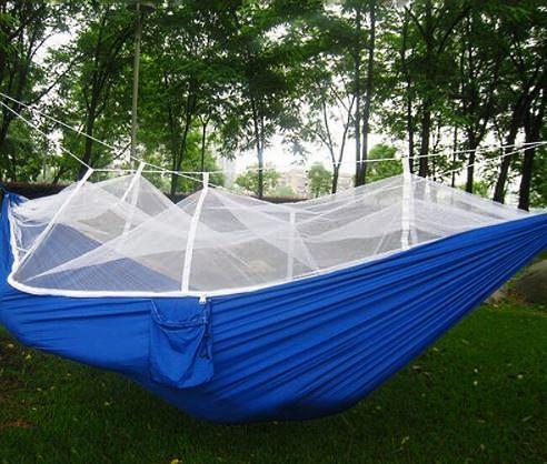Подвесной синий гамак кровать Zhejiang Camping hammock на кемпинге