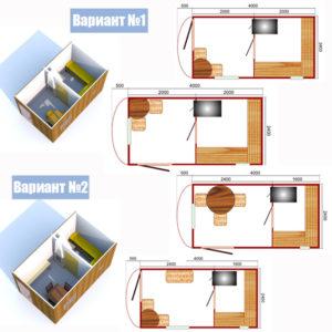 Готовый банный модуль «Лю-Баня» схемы сборки с размерами