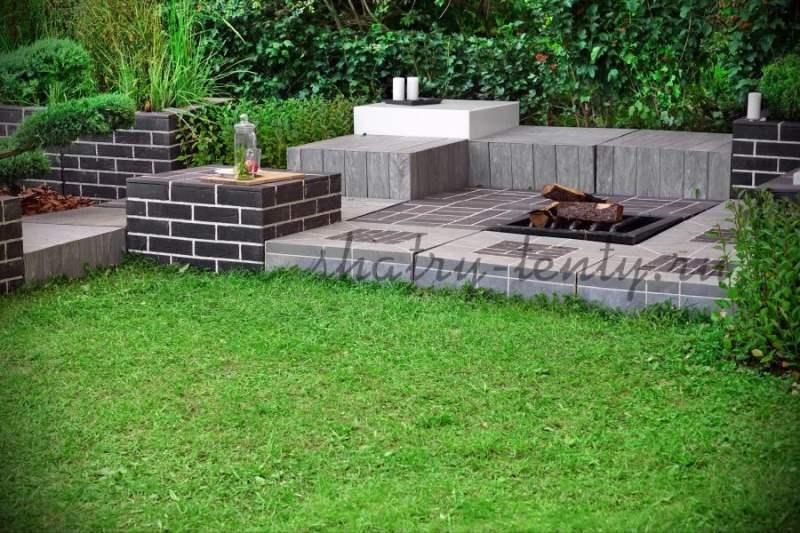 Каменная монолитная модель и декоративная каменная дорожка
