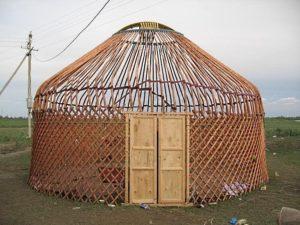 Каркас шестиканатной казахской юрты дм 4,8 м.-5,0 м»