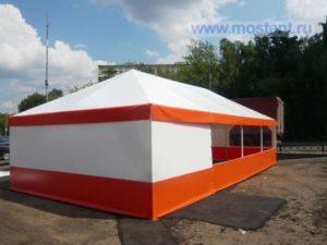 Летний шатер павильон МОСТЕНТ Оптимас четырехскатной крышей 3 Х 6 М, Россия, вид сбоку