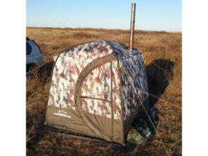 Камуфляжная мобильная баня - палатка «Терма 10» в поле