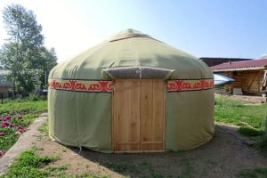 Башкирская юрта «Стандартная» диаметром 4 м на дачном участке