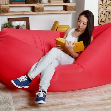 Надувной красный гамак LAMZAC для домашнего отдыха