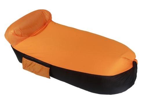 Надувной оранжево чёрный гамак One Loves One, Китай