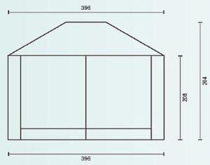 Палатка павильон Campack Tent G-3401 схема с размерами