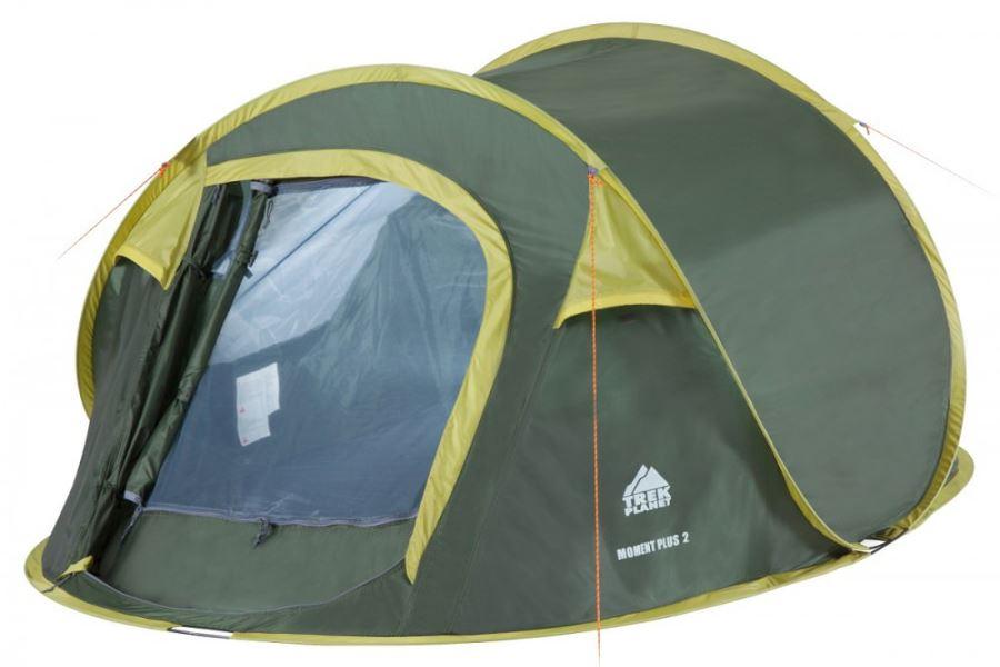 Зелёная палатка шатер с москитной сеткой TREK PLANET Moment Plus 2, 2,4 М