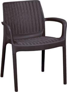 Пластиковое коричневое кресло Bali Mono Keter, Израиль