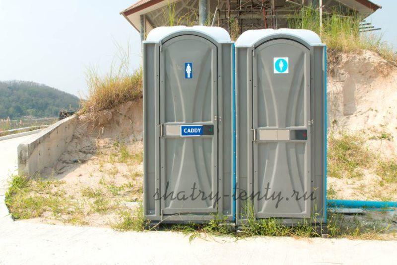 Пластиковые передвижные туалетные модуль–кабинки