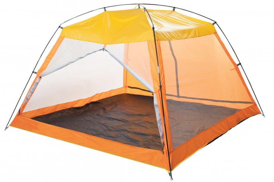 Пляжный тент оранжевый с москитной сеткой MALIBU BEACH 2 Х 2 М